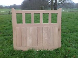 """Handcrafted Solid European Oak Gate 4'6"""" Wide X 3'6"""" High And Posts"""