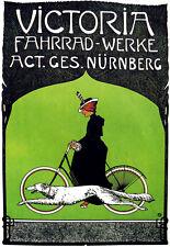 Art Deco - Victoria Bicycle Cycle Bike Advert - A3 Art Poster Print