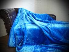 Tagesdecke Kuscheldecke im Glanz-Design ultramarin blau