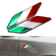 2x Placchetta adesivo flag Bandiera Italia auto moto scooter emblema Car Styling