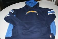 NFL Los Angeles San Diego Chargers Football Blue Hooded Sweatshirt Size Large