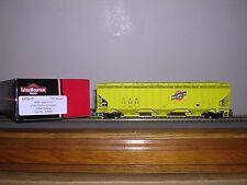 """INTER.#45359 C.& N.W. """"Yellow"""" Ribbed Side 3-Bay Cov. Hopper Car w/4 #s H.O.Ga."""