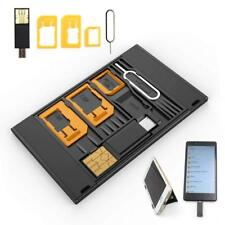 2 SIM Card Case & SIM Adapters & MicroSD card USB Flash OTG Reader + Phone Stand