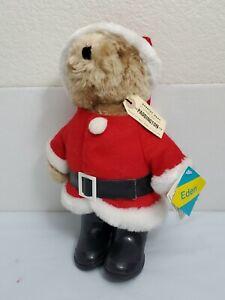 "Vintage Plush Paddington EDEN SANTA Claus Bear Christmas 13"" 1983 Tags Stuffed"