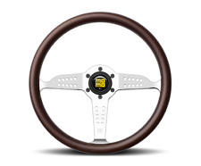 MOMO Super Grand Prix Steering Wheel 350mm Mahogany Wood Polished Spokes
