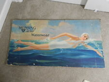 VINTAGE ADVERTISING SIGN-1930'S MUNSINGWEAR WATERWEAR  PAPERBOARD SIGN-VERY RARE