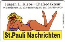 Dummy einer Visitenkarte St. Pauli Nachrichten * 06.92 200
