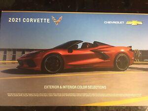 2021 CHEVROLET CHEVY CORVETTE C8 FACTORY COLOR CHIP BROCHURE USA NEW!