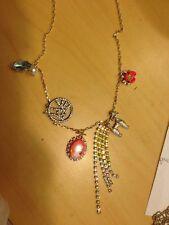Betsey Johnson Long Multi Poddle Cameo Pendant Necklace