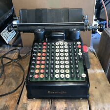 Vintage Burroughs Adding Machine, Electric 10 Column Functions, Working Piece