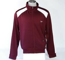 Speedo Slim Fit Stretch Maroon Track Jacket Mens Extra Large XL NWT $80