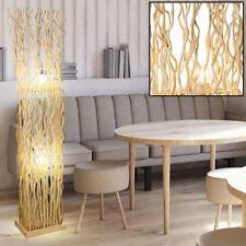 Holz Steh Lampe naturfarben Gäste Zimmer Beleuchtung Lese Decken Fluter Leuchte