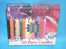 "Angel Chime Party Candles, 1/2"" Diameter x 4"" Tall, 20 in New Box, Gray"