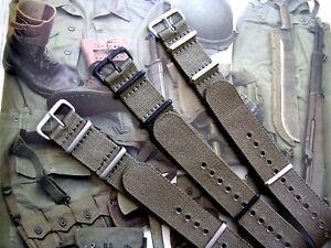 NATO G10 ® Khaki Green HD nylon Military Dive watchband RAF strap bond IW SUISSE