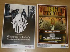 Whiskey Myers - Scottish tour Glasgow concert gig posters x 2