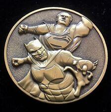 Challenge Coin  Superman Vs Batman Bronze 1 3/4 Inch````