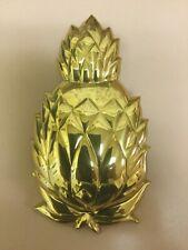 New listing Vintage Carolina Brass Pineapple Door Knocker Nib Large And Heavy