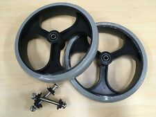 Replacement 8'' 3-Spoke Rollator Wheels - With 2 Bearings & Securing Bolts, PAIR