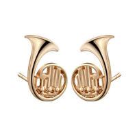 2x orecchini CORNO FRANCESE orecchino musicista musica regalo donna orchestrale