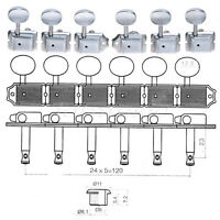 Guitar Inline Tuning Pegs Machine Heads for Fender Tele Strat Parts 6R Chrome