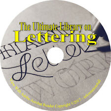 40 Books on CD, Ultimate Vintage Library on Lettering, How to, Monogram, Ciphers