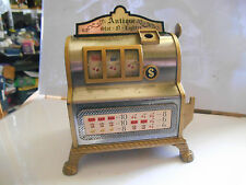 briquet jack pot slot machine  lighter waco japan tin toy  tole machine a sous ,
