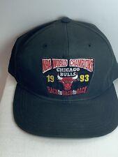 Chicago Bulls 1993 NBA World Champions Back to Back to Back Hat Vintage Snapback