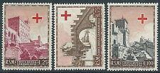 1951 SAN MARINO PRO CROCE ROSSA 3 VALORI MNH ** - X34