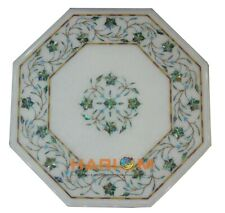 """12"""" Marble Center Coffee Table Top Paua Shell Floral Inlay Bedroom Decors W182"""