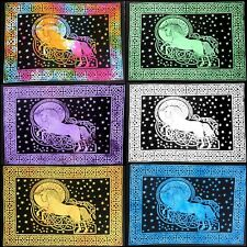 Horse Icon Wall Hanging Throw Textile Indian Tapestry Poster Handmade Cotton Art