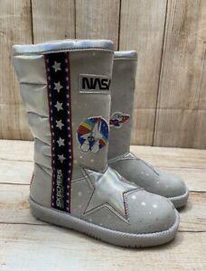 NEW Skechers Nasa Star Glamslam Explorer Tall High Boot Size 13Y Girls Kids
