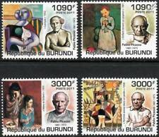 PABLO PICASSO Artist & Painter / Abstract Art Stamp Set (2011 Burundi)