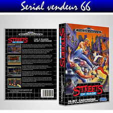 """BOX, CASE """"STREETS OF RAGE"""". MEGADRIVE. BOX + COVER PRINTED.NO GAME.MULTILINGUAL"""
