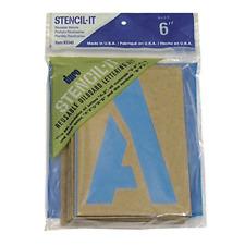 6 Inch Reusable Lettering Large Alphabet Stencils Letters Numbers Symbols Craft
