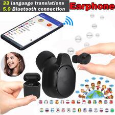Wireless Bluetooth5.0 Translation Earphone Single Headset Real Time Translator