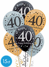 40th Birthday Party Supplies Latex Balloons Pack of 15