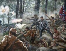 ORIGINAL CIVIL WAR BATTLE UNION CONFEDERATE MILITARY ART ILLUSTRATON PAINTING