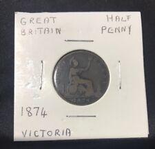 1874 UK Half Penny