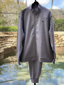 LACOSTE SPORT STAND-UP NECK FLEECE TRACKSUIT (4XL)