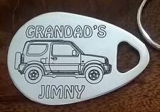 GRANDAD'S SUZUKI JIMNY keyring engraved aluminium custom made birthday gift