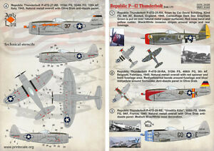 1/72 Republic P-47 Thunderbolt Part 1 Wet decalPrint Scale 72-026