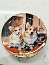 "Danbury Mint Collector Plate-Corgi-""Playful Pals"" A3756 By Rick Garland!"