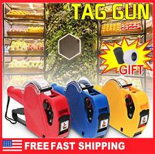 Price Tag Sticker Gun Labeler 8 Digits Stickers Markdown Pricing Gun Portable Us