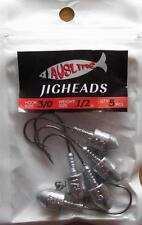 10  Size 3/0,  1/2 OZ  Jig Heads  High Chemically Sharpened Hooks Fishing Tackle