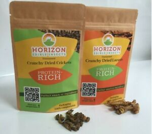 Edible insects crickets locusts mix & match grubs mixed bugs good to eat