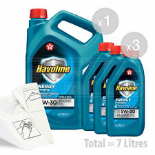 Car Engine Oil Service Kit / Pack 7 LITRES Texaco Havoline Energy 5w-30 7L