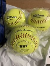 """Wilson Official Leather Little League 12"""" Softball (Lot Of 3)"""