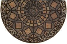Outside Door Mat Welcome Entryway Floor Rug Gothic Iron Brown Rubber Half Round