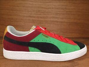 PUMA Suede Classix Men Suede Shoes Blue Green Burgundy Red Black SZ 10 381773-01