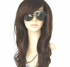 Dark Brown Glamour Long Wig Fashion Full Curly Wavy Hair Women Ladies New